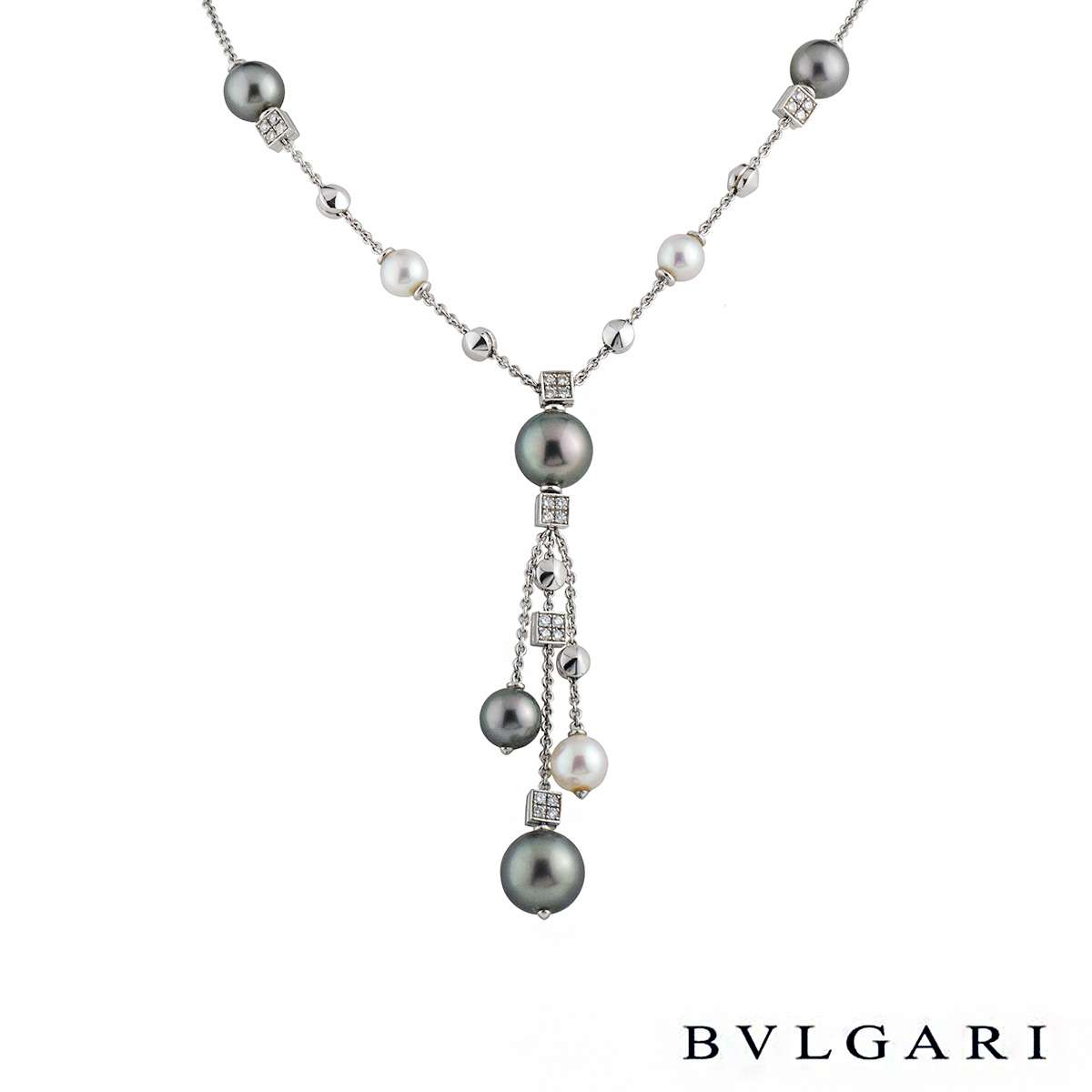 Bvlgari Lucea Diamond & Pearl Necklace